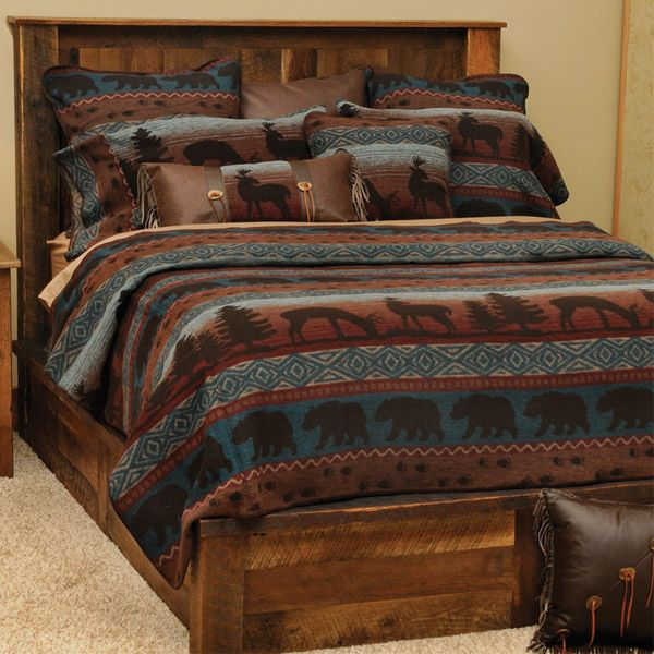 Rustic Wildlife Coverlet Bedding Ensemble Rustic Bedding