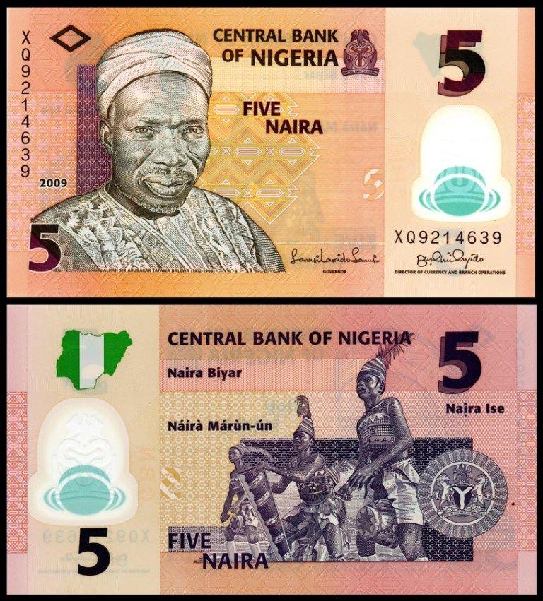 Nigeria 5 Naira p-38 2018 UNC Polymer Banknote