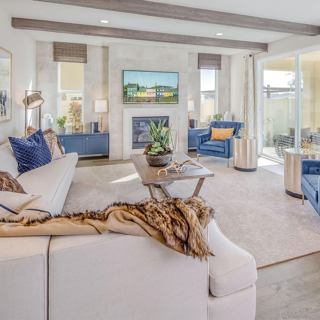neutral living room with pops of color living room ...