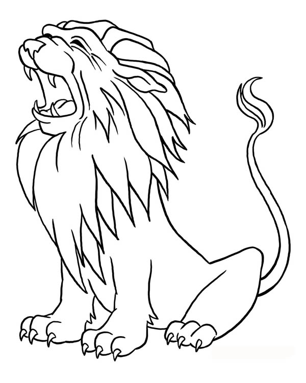Lion Roaring Coloring Page Color Luna Lion Coloring Pages Cartoon Coloring Pages Animal Coloring Pages