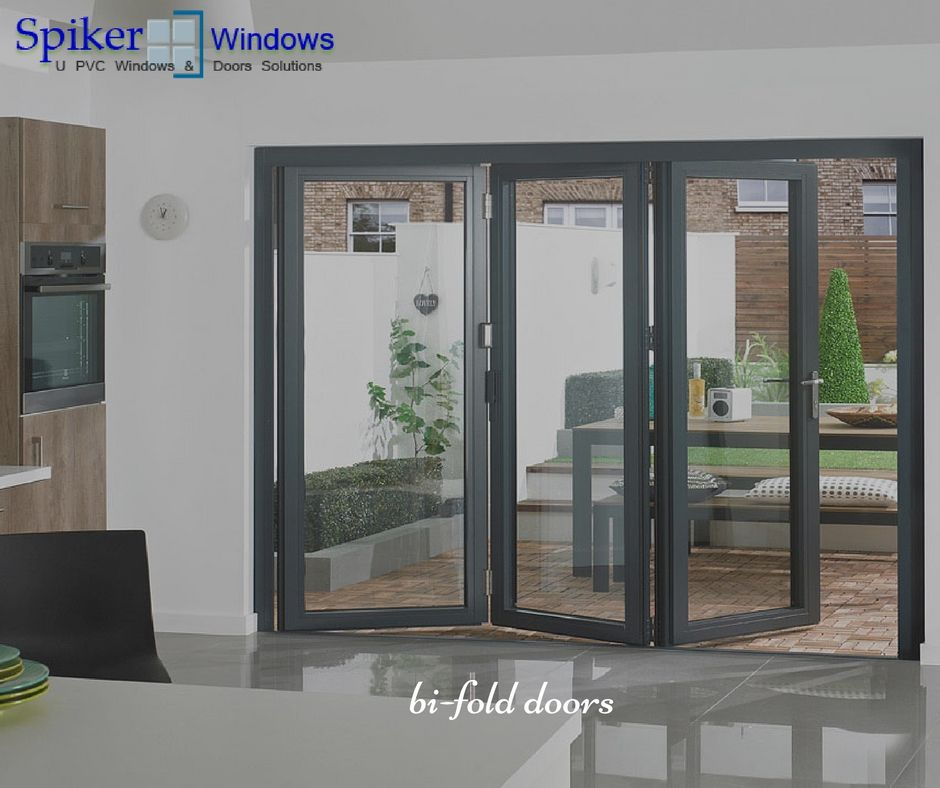 Spikerwindows Bi Fold Doors Save Home Space Like A Partition Wall And Also Add Beauty To You Bifold Doors External Bifold Doors Exterior Doors With Glass