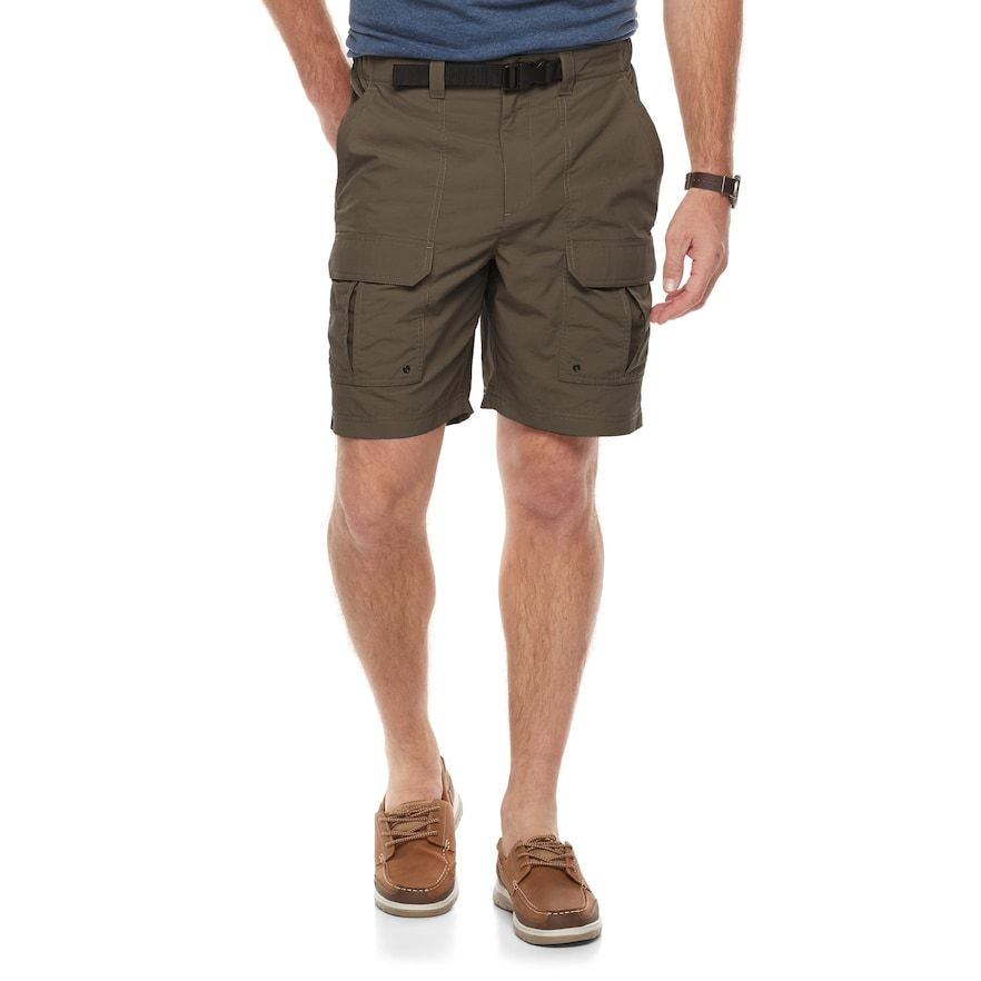 bdd6fe89a2b Men's Croft & Barrow® Classic-Fit Outdoor Belted Side-Elastic Ripstop Cargo  Shorts, Brown