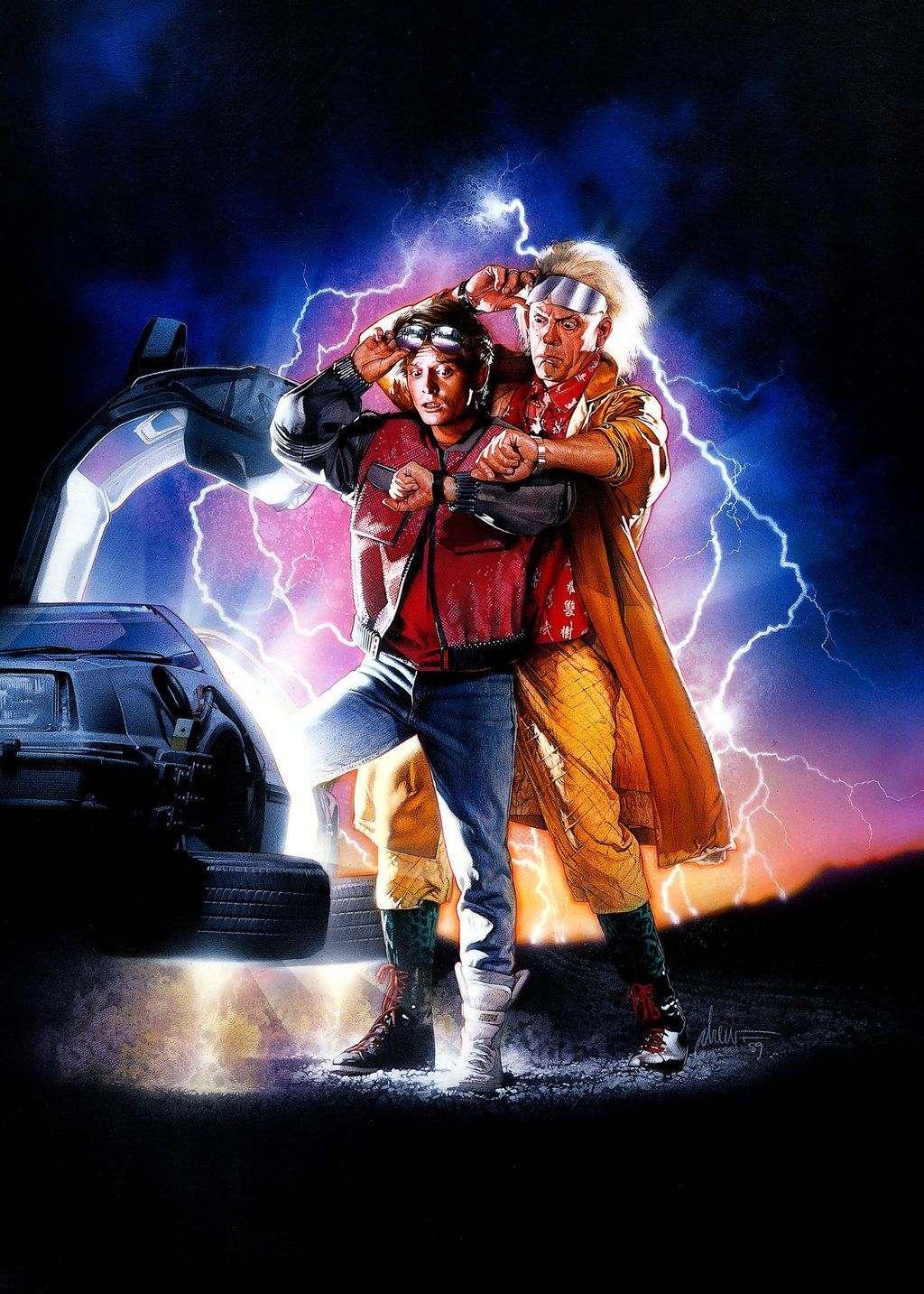 Back to the future 2 hires textless poster by phet van