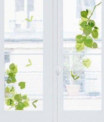 Fenstersticker Grüne Blätter Fensterbilder Blumen