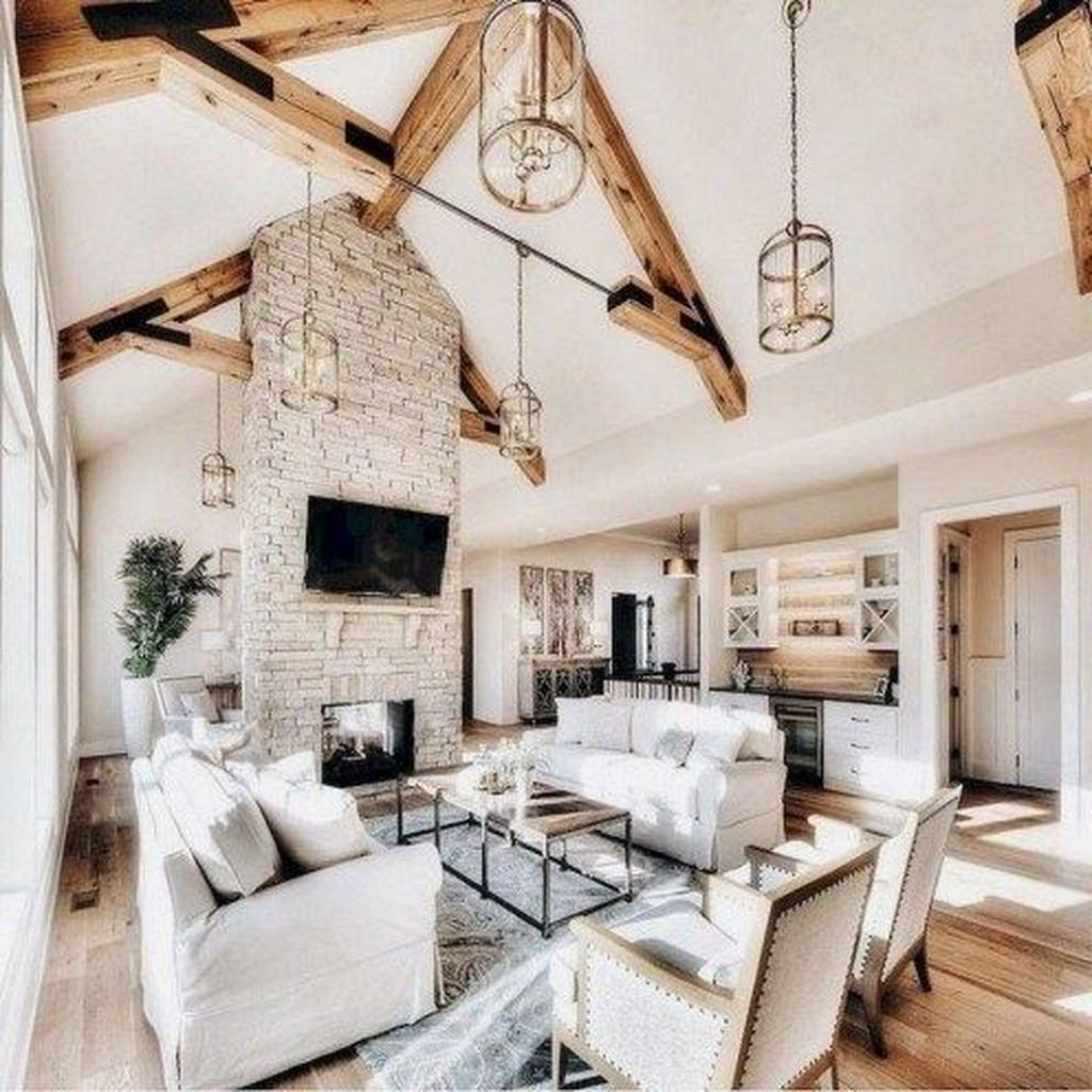 47 Hottest Farmhouse Living Room Design Ideas images