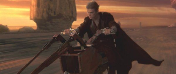 Anakin Riding A Speeder On His Home Planet On Tatooine To Rescue His Momm Star Wars Episode Ii Star Wars Awesome Star Wars Attack Of The Clones