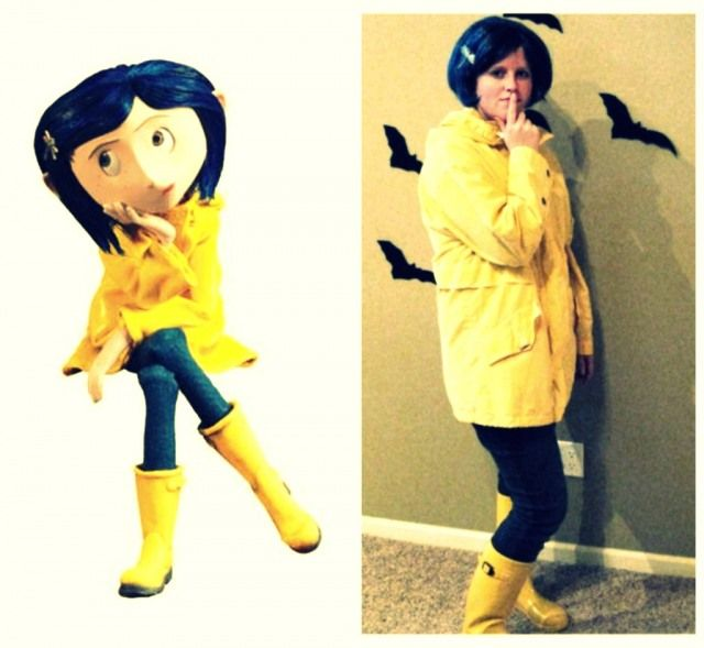 Great Idea For 2012 Will Hide To Post Baby Body Coraline Halloween Costume Friend Costumes Halloween Inspiration