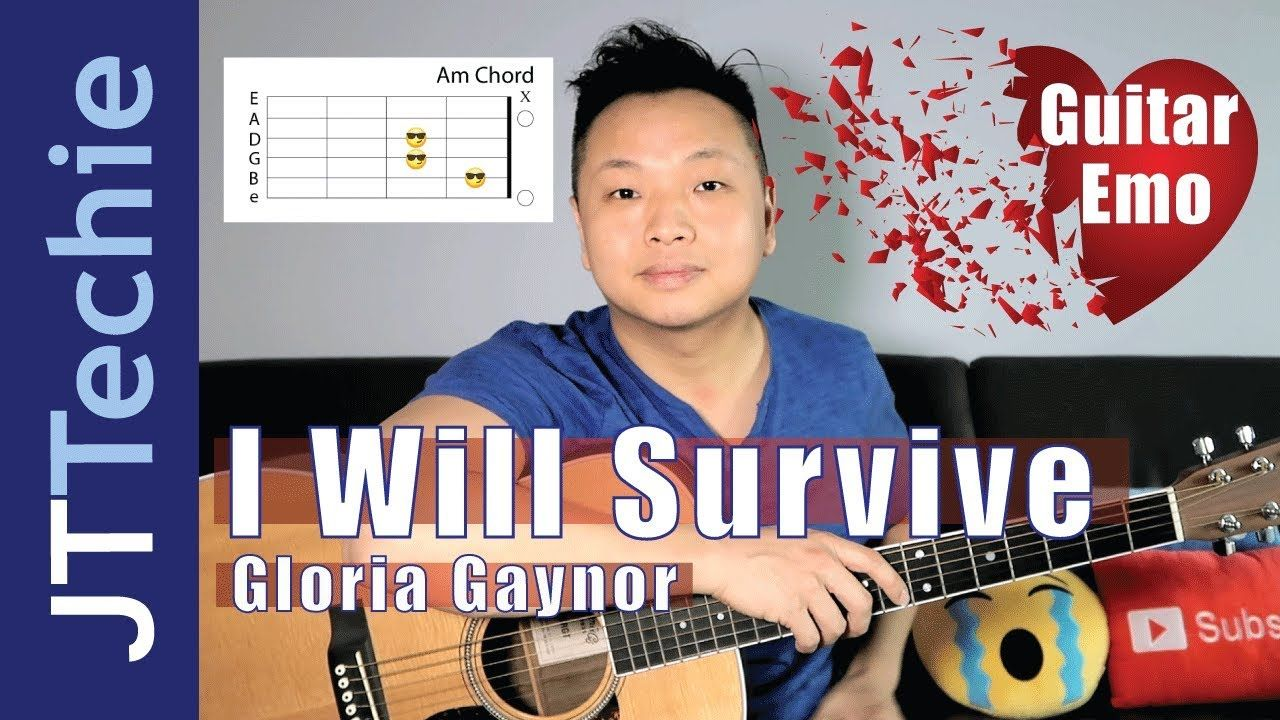 How To Play I Will Survive By Gloria Gaynor On Acoustic Guitar No Capo Guitar Guitar Chords Acoustic Guitar