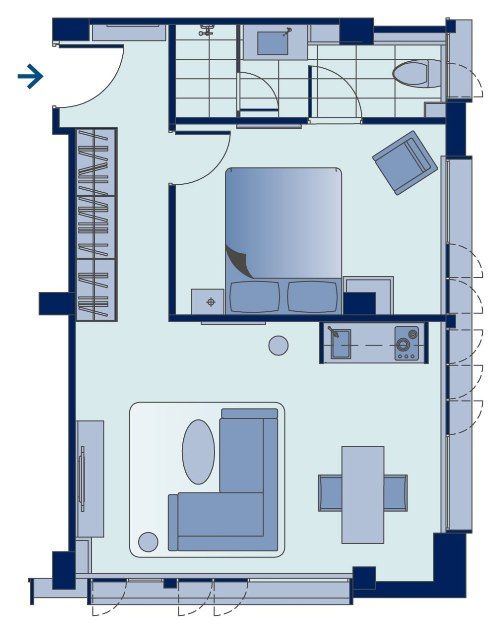 Shama Tsim Sha Tsui Hong Kong Luxury One Bedroom Apartment Design Layouts Bedroom One