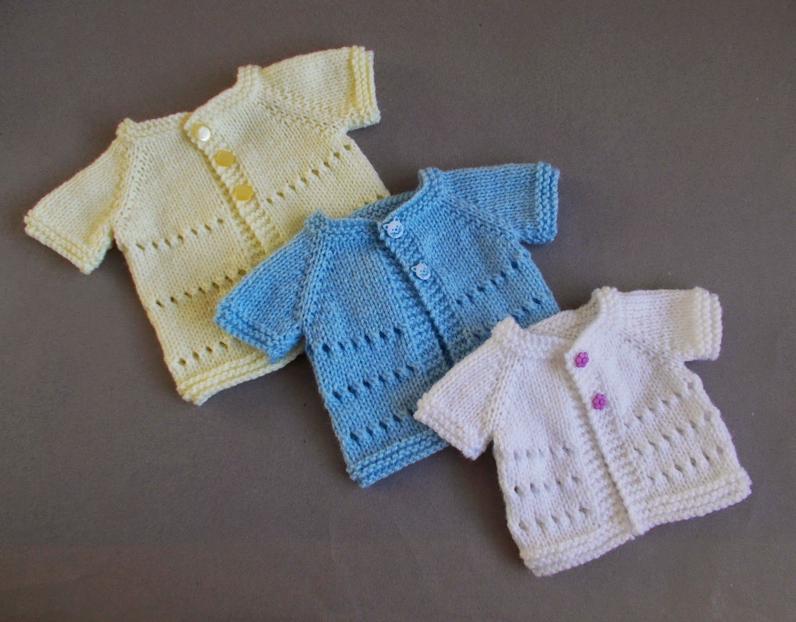 marianna\'s lazy daisy days: Little Jay ~ Premature Baby Cardigan ...