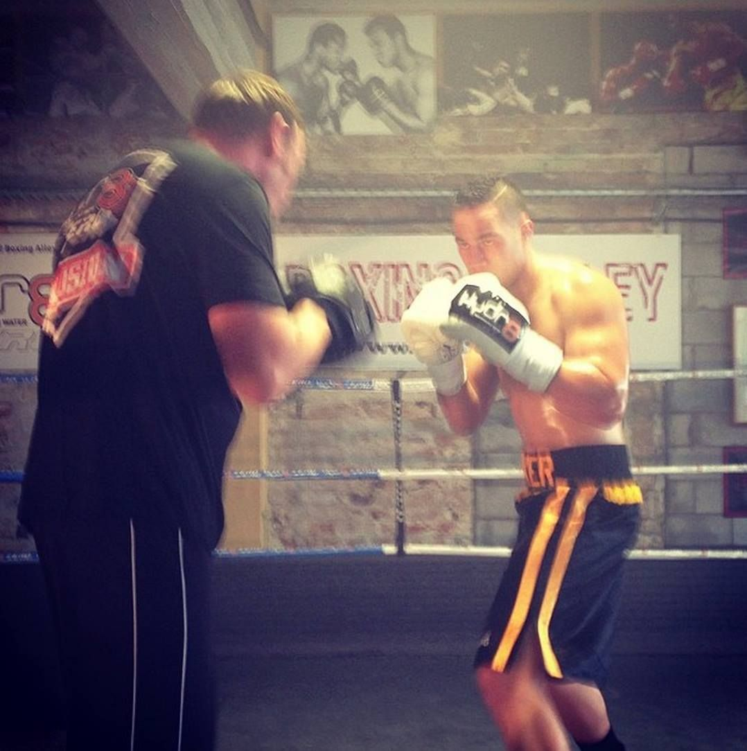 Joseph Parker, NZ heavyweight boxer at Boxing Alley gym