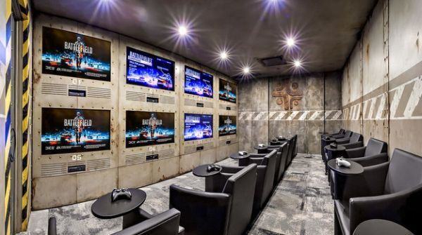 Indulge Your Playful Spirit With These Game Room Ideas Game Room Design Video Game Rooms Home Theater Design