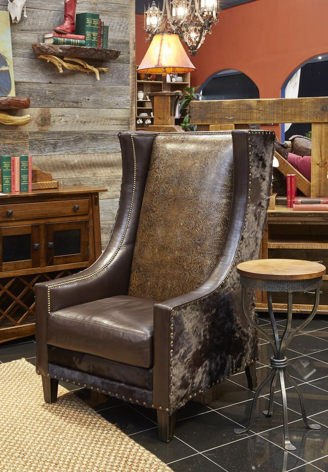 Rustic Charm Is Exemplified In This Inviting Accent Chair
