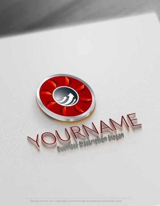 Free Logo maker - 3D Arrow Logo design | Logo maker, Arrow ...