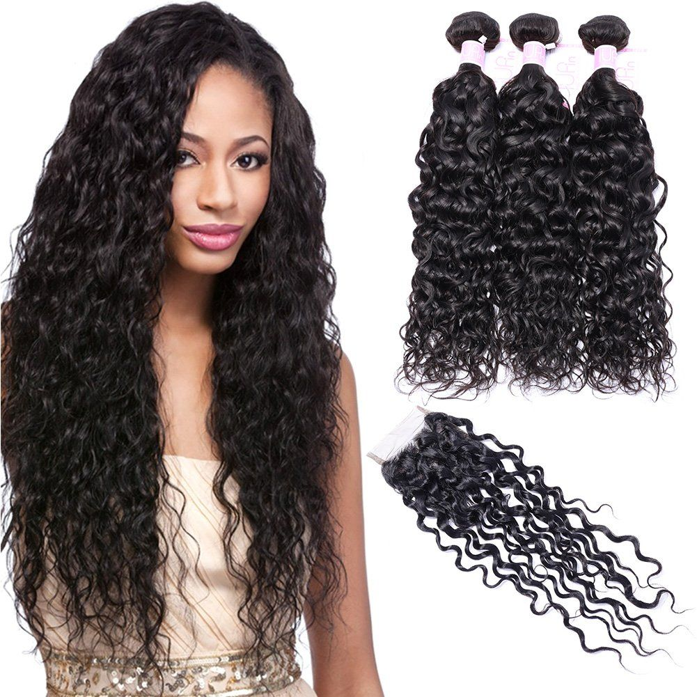 Iupin 14 16 18 With 12 Inch Closure 8a Brazilian Virgin Hair Bundles