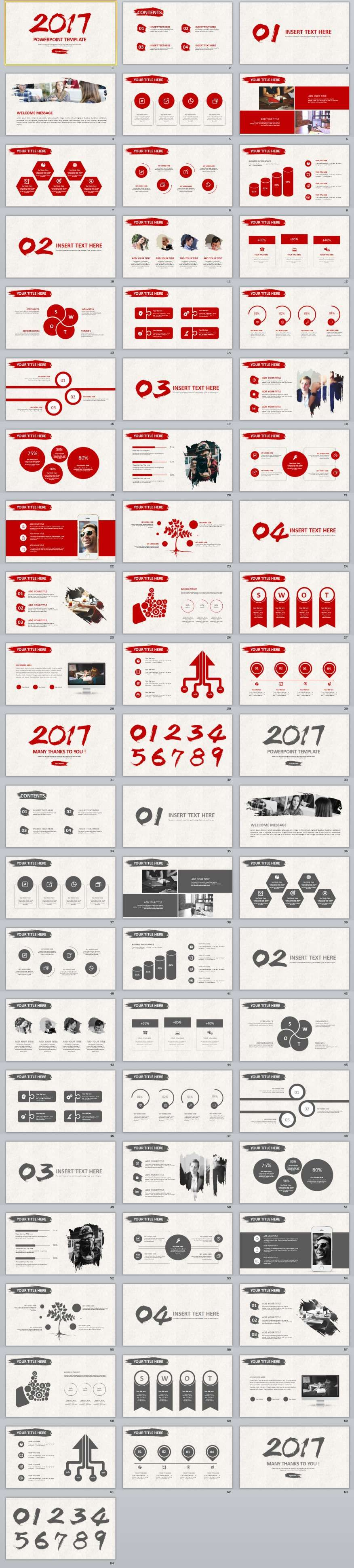 60+ red black annual report powerpoint templates 2 in 1 | 2018, Modern powerpoint