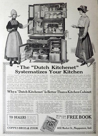 """1917 """"Dutch Kitchenet"""" Kitchen Cabinet Ad   Kitchen ..."""
