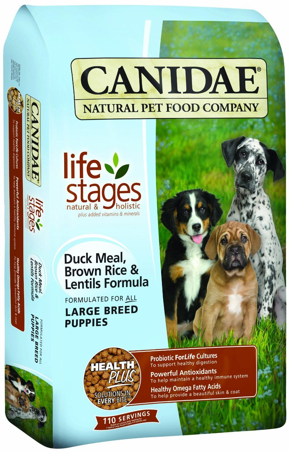 CANIDAE Life Stages Duck Meal Dog Food Large breed puppy