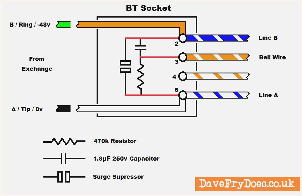 Telephone Master socket Wiring Diagram – davehaynes.me | Wire, Telephone,  SocketsPinterest