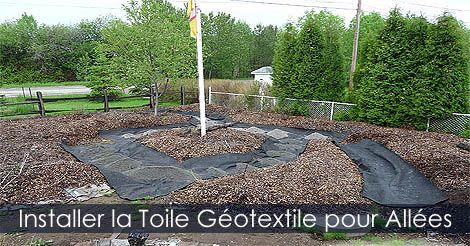 Jardin en Façade et Potager en Façade. Installer la toile géotextile ...