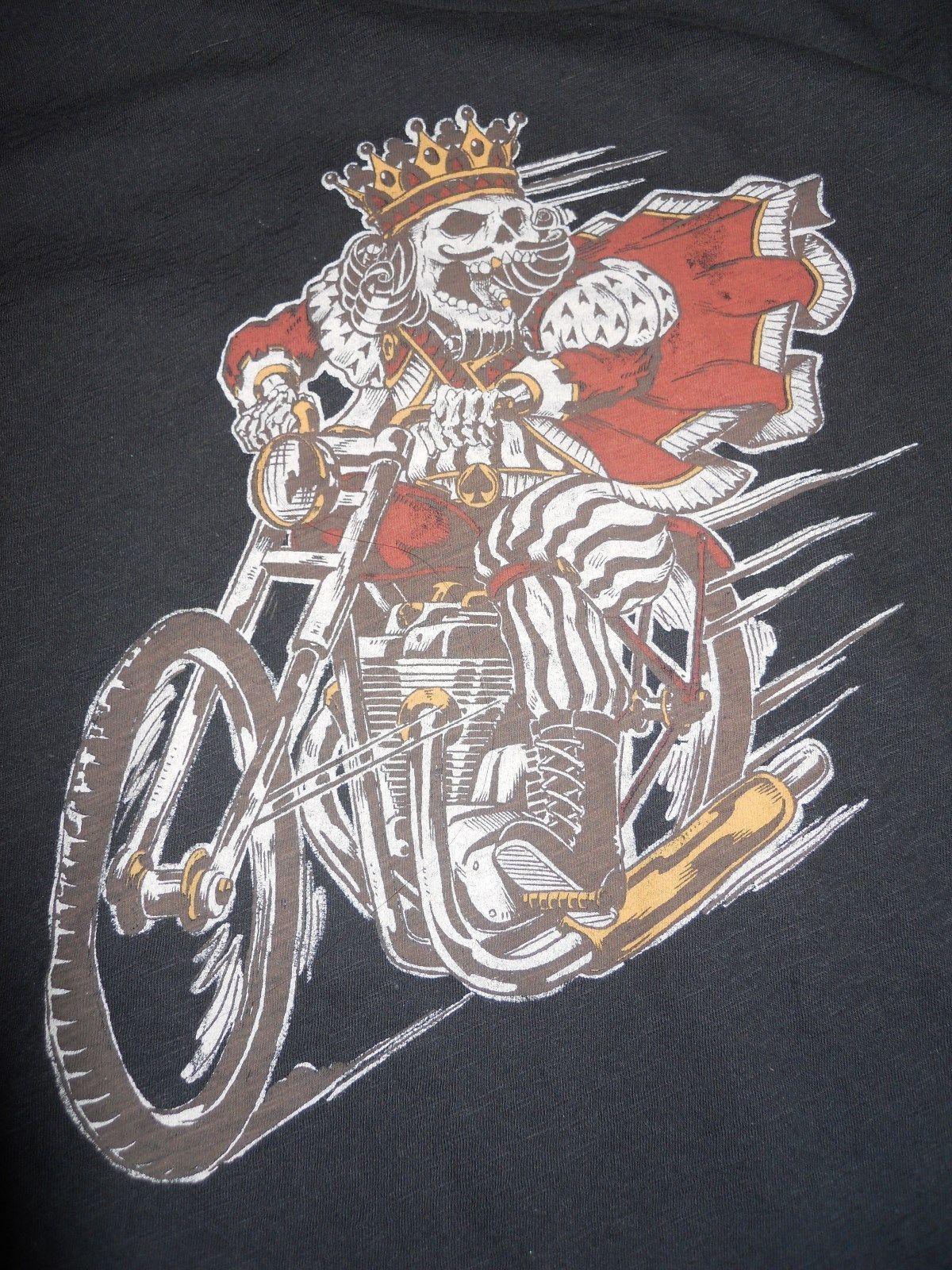 Lucky Brand King Skull Moto Tee