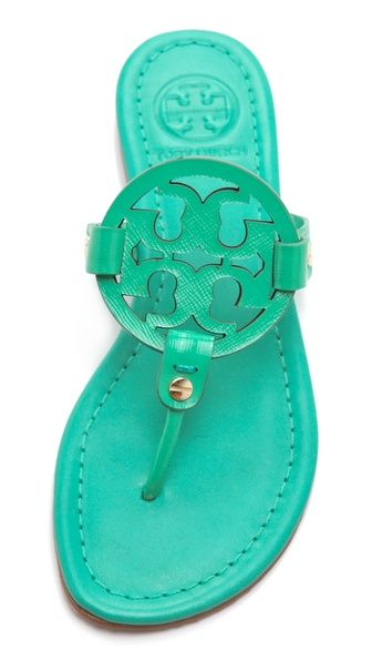 Tory Burch Miller Patent Sandals $195.00  Color: Island Turquoise