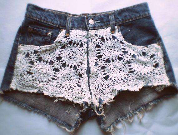 crochet diy shorts
