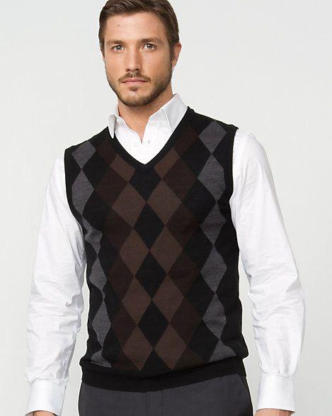 Wool Blend Argyle Sweater Vest | Argyle sweater vest, Wool blend ...