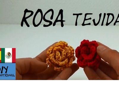 ROSA TEJIDA A CROCHET PASO A PASO - TUTORIAL DIY