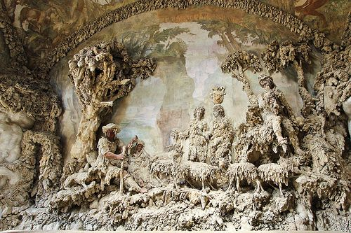 "Buontalenti's Grotto - Boboli Gardens  - ""The interior of the cavern was adorned with sculpted  and humans, all in various stages of consumption by the strange oozing walls.""- chapter 29"