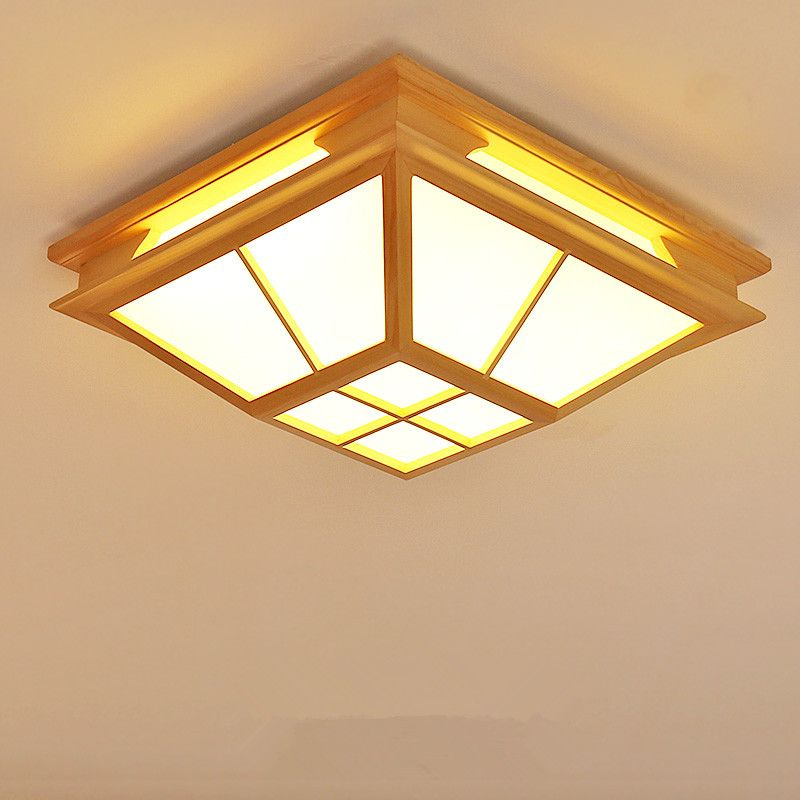 Modern Interior Japanese Ceiling Lights Washitsu Ceiling Decoration Lamp Wood And Paper Hallway Indoor Hanging Lamp Design Ceiling Lights Ceiling Light Design