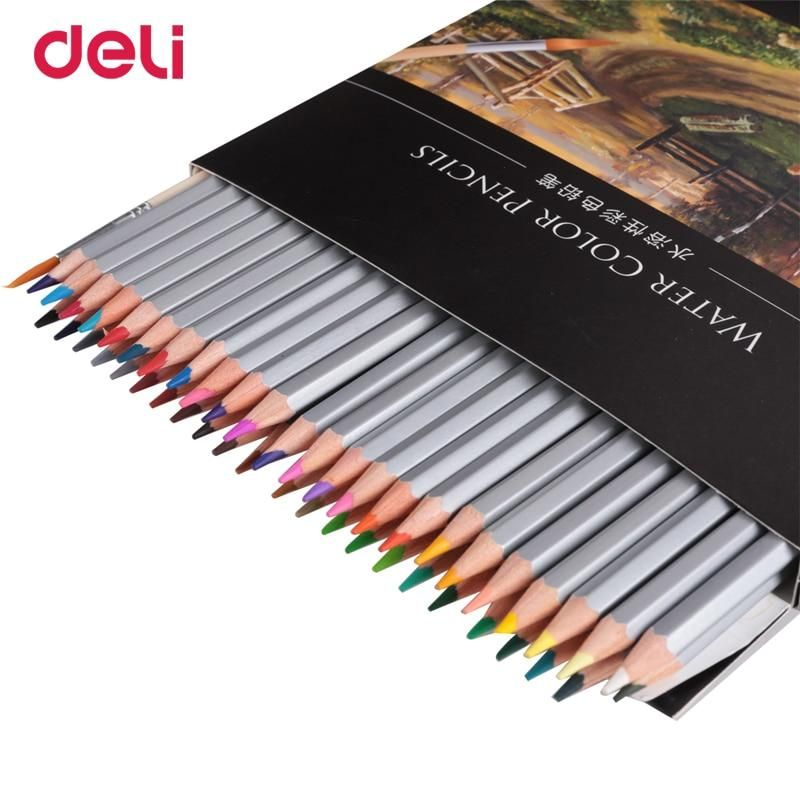Deli High Quality 24 36 48 Colors Professional Watercolor Pencil