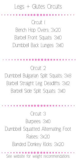 legs glutes circuits