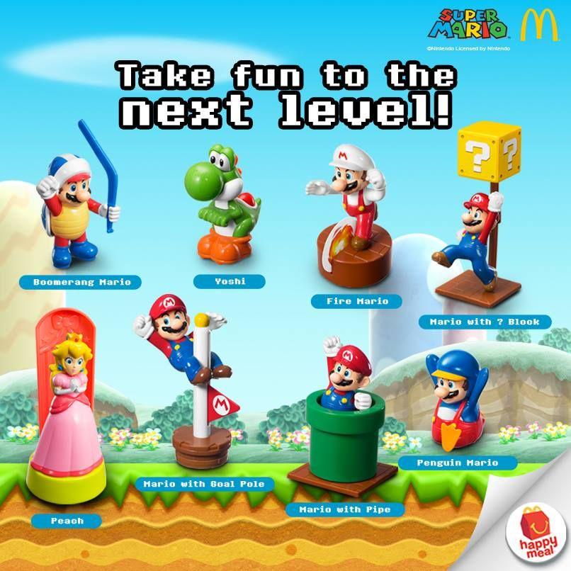 Super Mario For Mcdonald S Happy Meal Happy Meal Mcdonalds Happy Meal Happy Meal Toys