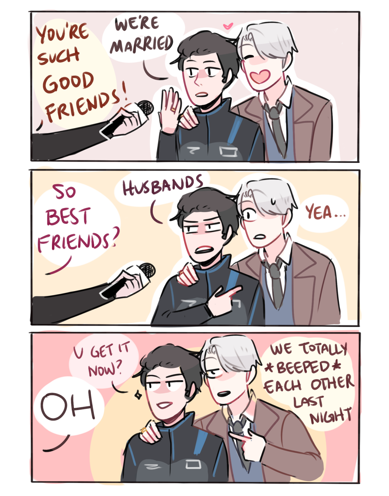 Randomsplashes when people think ur just good friends so u and ur husband make it very clear that u guys are married af lmao insp by this tweet