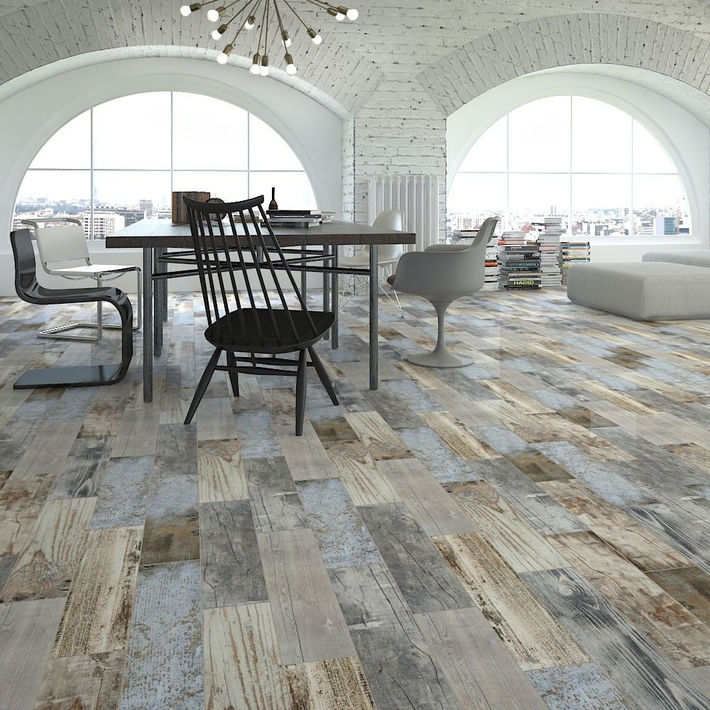 Httpswallsandfloorsreclaimed wood effect tiles porcelain rustic blue wood plank tiles from the reclaimed wood effect tiles range by core effect dailygadgetfo Gallery