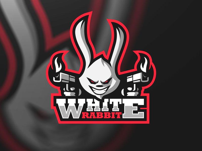 White Rabbit Gaming Game Logo Esports Logo Logo Design Creative