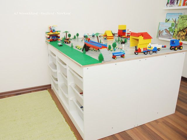 legotisch ikea hack diy ikea lego spielzimmer spielzimmergestaltung spielzimmer. Black Bedroom Furniture Sets. Home Design Ideas