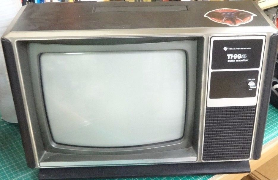 Ti 99 4 Color Monitor Aka A Television Monitor Color Vintage
