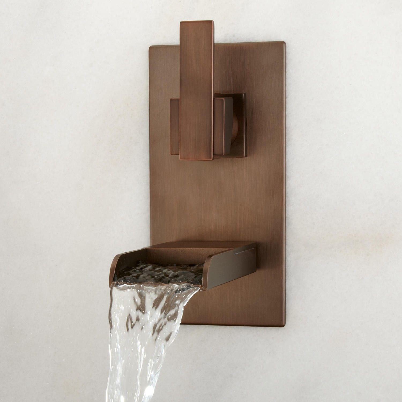 Willis Wall-Mount Bathroom Waterfall Faucet - Bathroom Sink ...