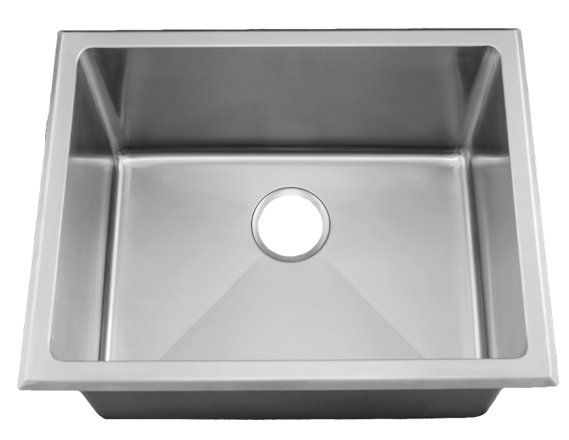 24 Near Zero Radius Topmount Or Undermount Stainless Steel Deep Single Bowl Kitchen Sink 15 Gauge Stainless Steel Sinks Sink