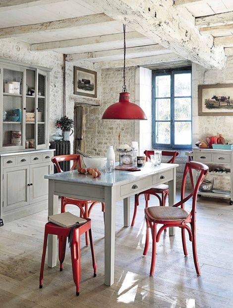 Aufgepeppter Landhaus-Chic Wohnen Küche einrichten Pinterest - küchen wandregal landhaus