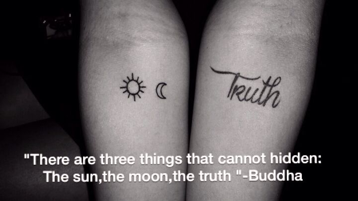 The Sun The Moon The Truth Tattoo Sun Moon Truth Truth Tattoo Tattoos Sun Tattoos