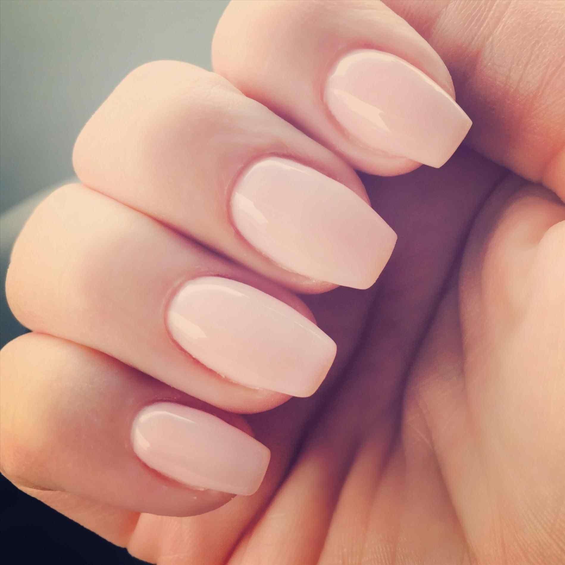 Image result for pink short coffin nails