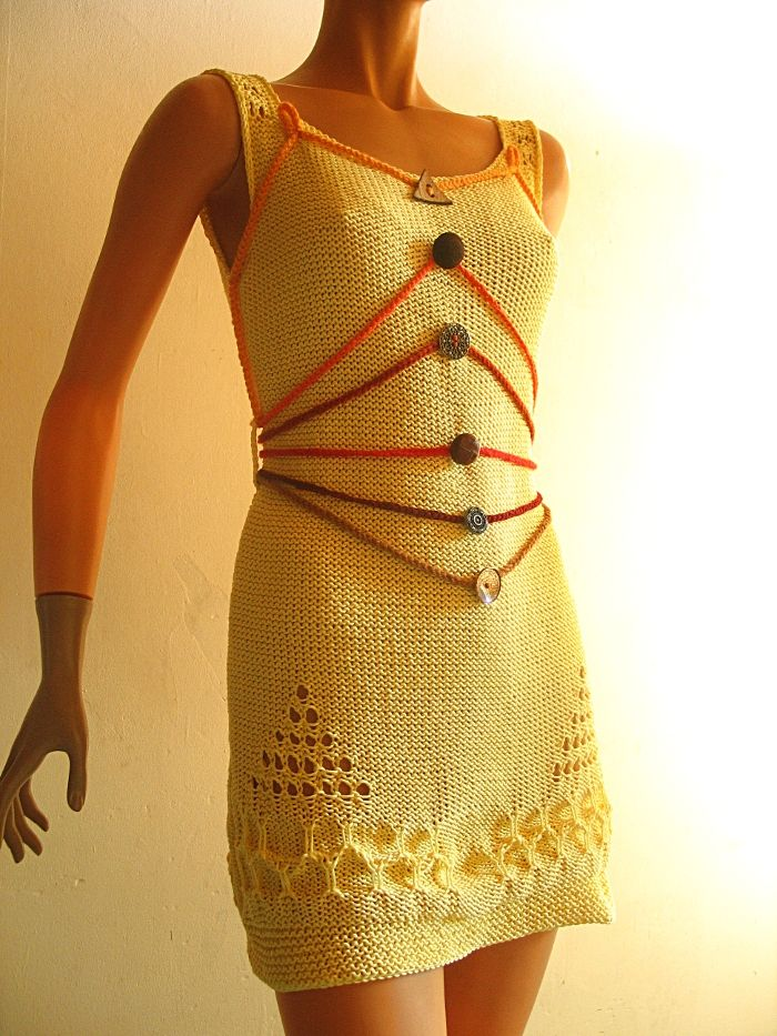 robe jaune fantaisie