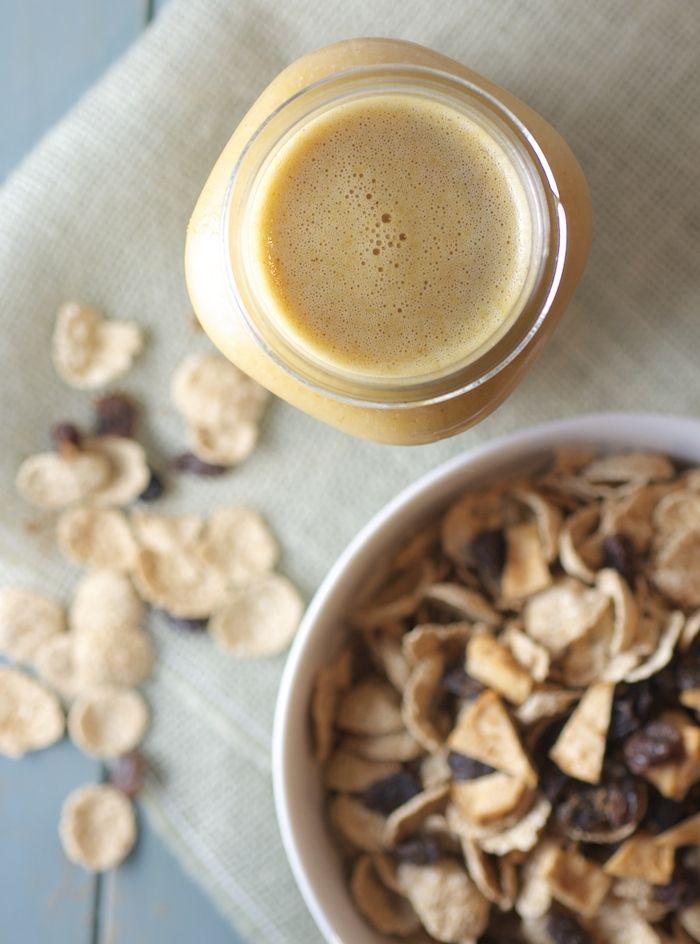 Pumpkin Spice Milk over Cereal   for a quick, easy, vegan pumpkin breakfast