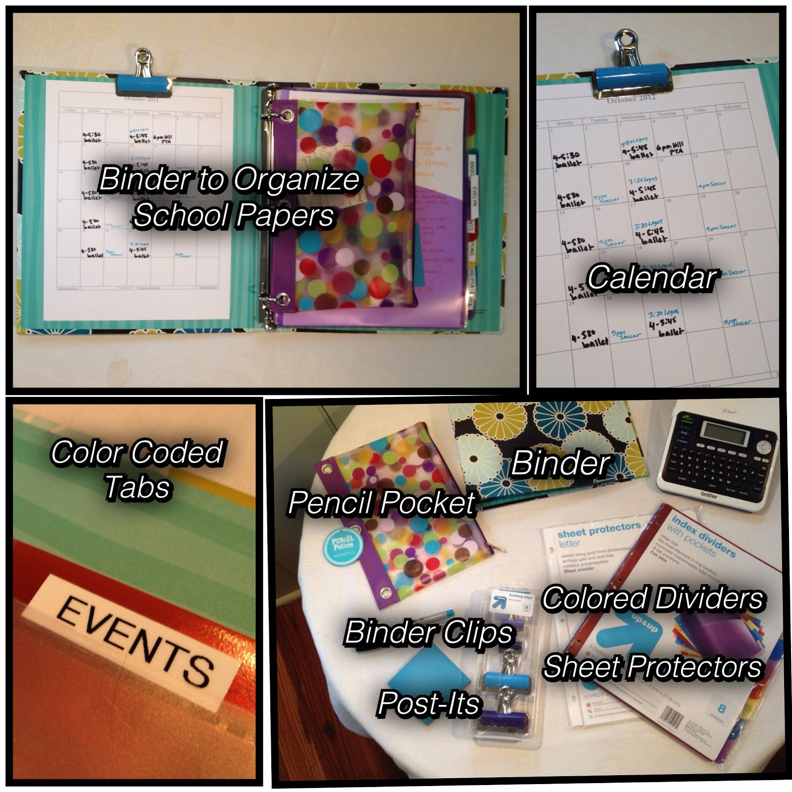 Step-By-Step Guide for Organizing School Papers - Video and Blog - Complete with Supply List - Only $15.59!