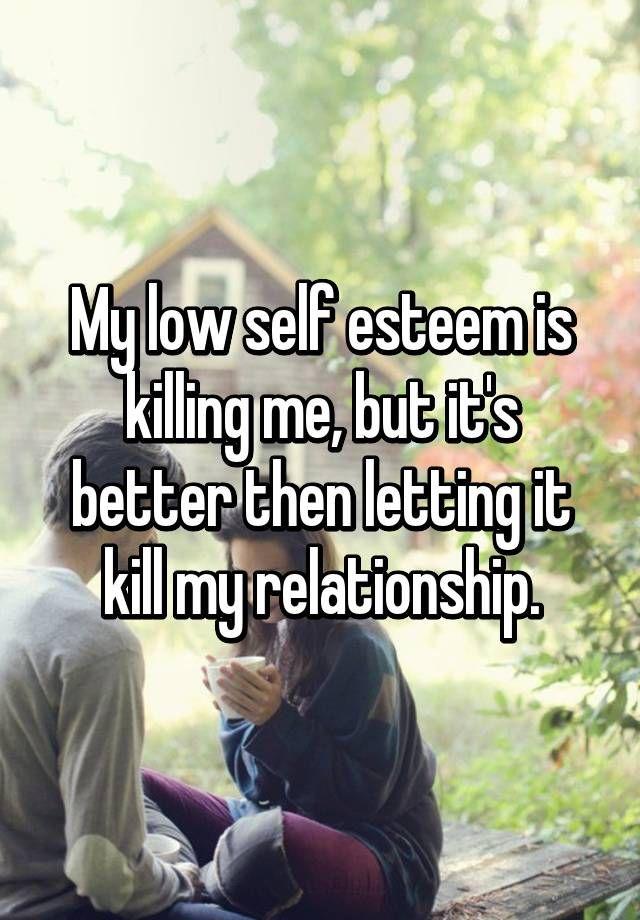 Low self esteem after boyfriend cheated