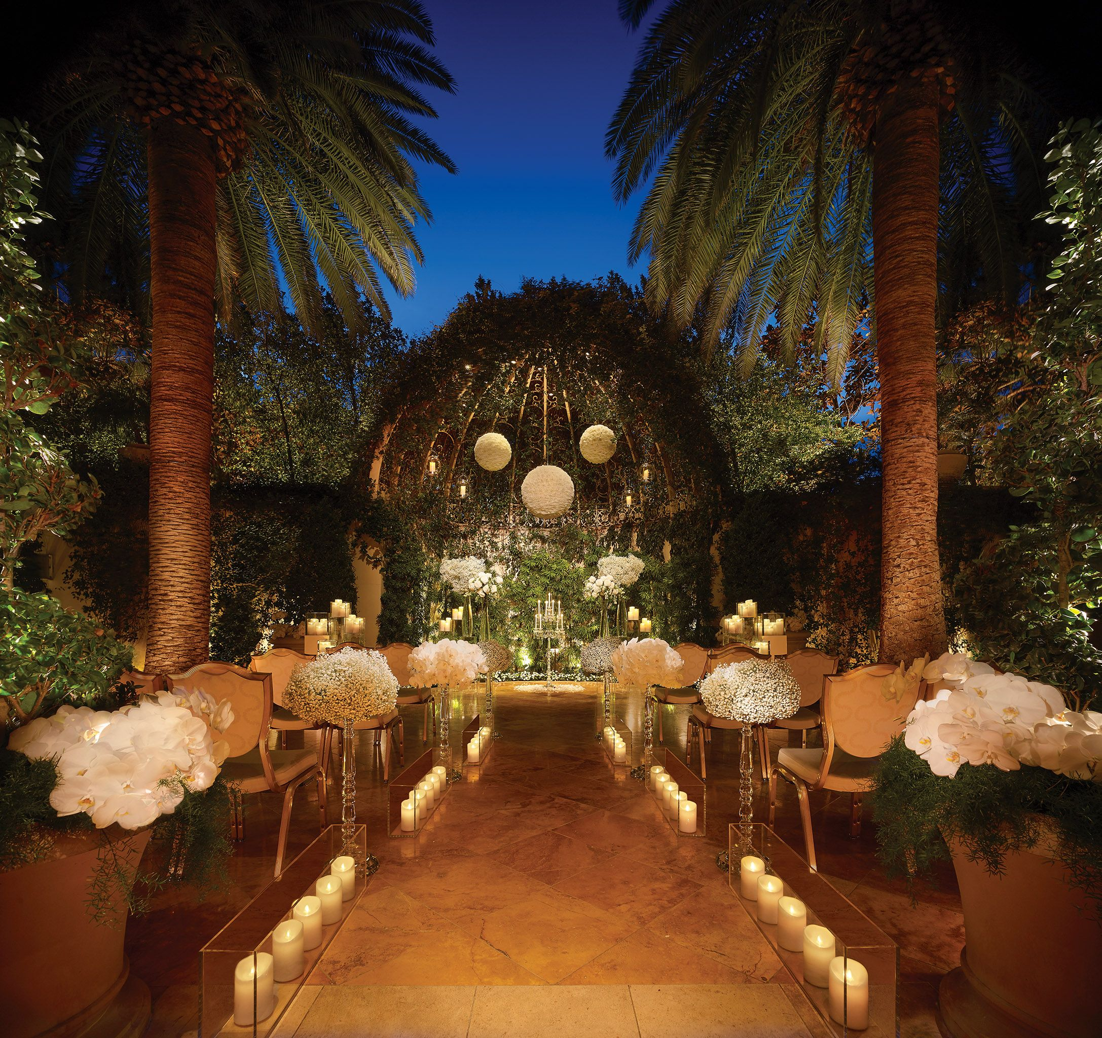 The Primrose Courtyard at night at Wynn Las Vegas  | From Now Until