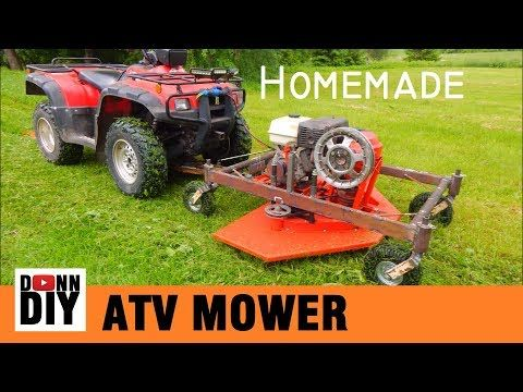Mechanical Ground Driven Mower Made From Junk Youtube Mower Atv Homemade